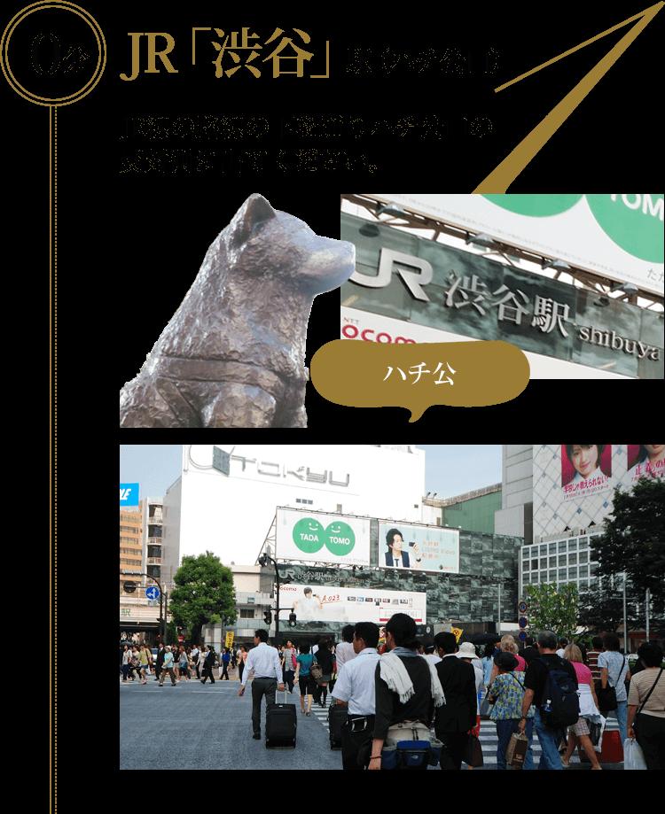 JR「渋谷」駅(ハチ公口)