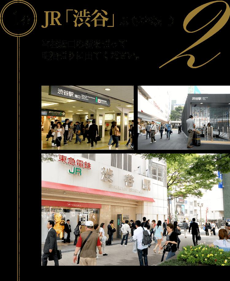 JR「渋谷」駅(宮益坂口)